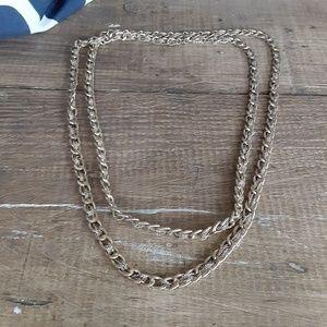 Long Gold Loft Chain Necklace